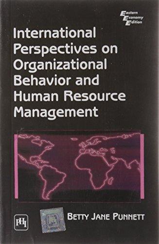 International Perspectives on Organizational Behavior and Human: Betty Jane Punnett