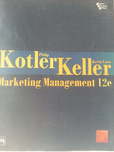 9788120327993: Marketing Management 12e
