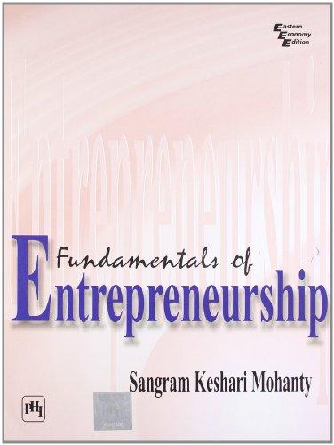 Fundamentals of Entrepreneurship: S.K. Mohanty