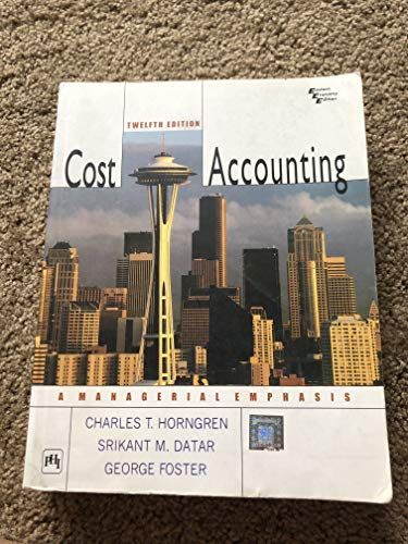9788120329096: Cost Accounting: A Managerial Emphasis (Eastern Economy Edition) Edition: Twelfth