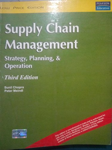 9788120331587: Supply Chain Management: Strategy, Planning, and Operation