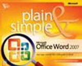 9788120331631: Microsoft Office Word 2007, Plain & Simple