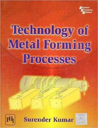 TECHNOLOGY OF METAL FORMING PROCESSES: SURENDER KUMAR