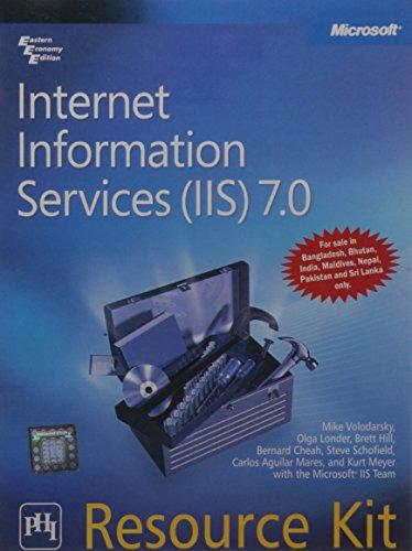 9788120335127: Internet Information Services (IIS) 7.0 Resource Kit