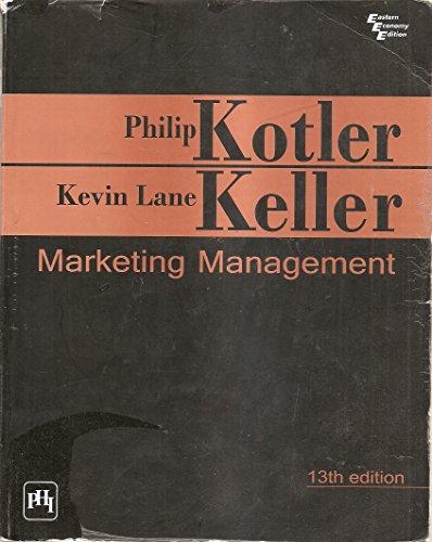 Philip Kotler Marketing Management Book 13th Edition