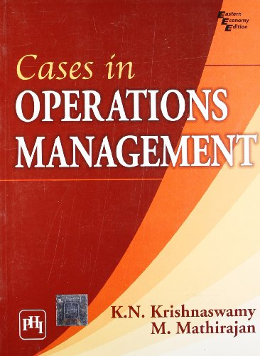 9788120335905: Cases in Operations Management