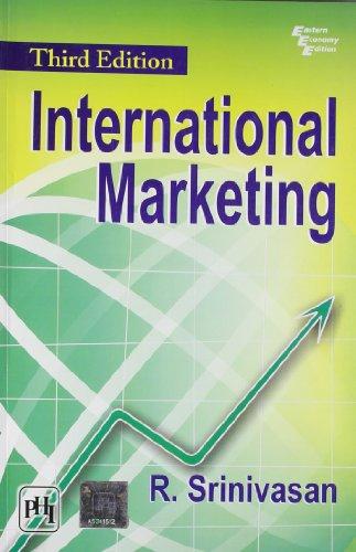 International Marketing, (Third Edition): R. Srinivasan