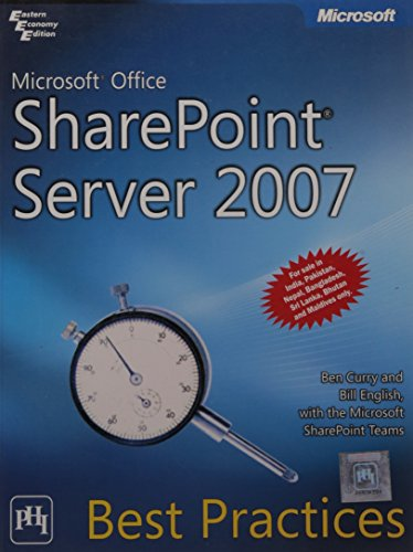 9788120336223: Microsoft Office SharePoint Server 2007 Best Practices