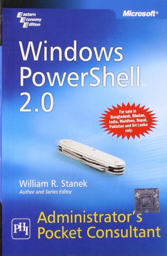 9788120338852: Windows PowerShell 2.0 Administrator's Pocket Consultant