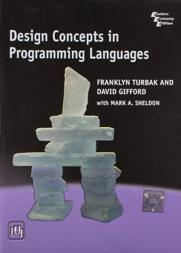 9788120339965: Design Concepts In Programming Languages - Turbak/Gif