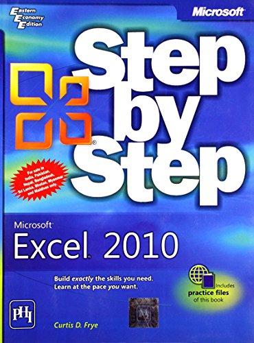 9788120341432: Microsoft Excel 2010 Step by Step