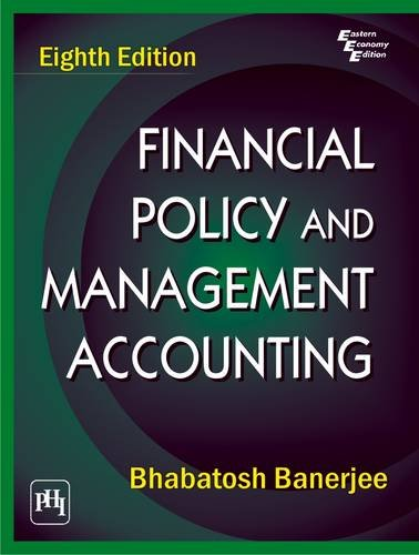 9788120341654: Financial Policy and Management Accounting