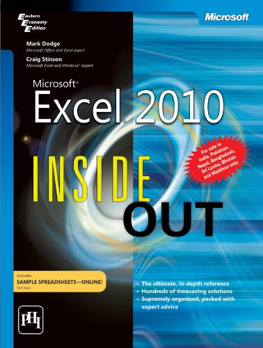 9788120342040: MICROSOFT EXCEL 2010 INSIDE OUT
