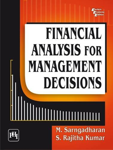 9788120342477: Financial Analysis for Management Decisions