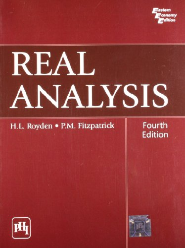 9788120342804: REAL ANALYSIS, 4TH ED.