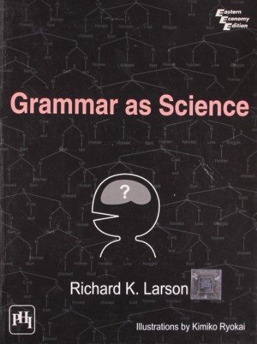 9788120343214: Grammar as Science