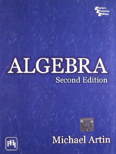 9788120343290: Algebra, Second Edition
