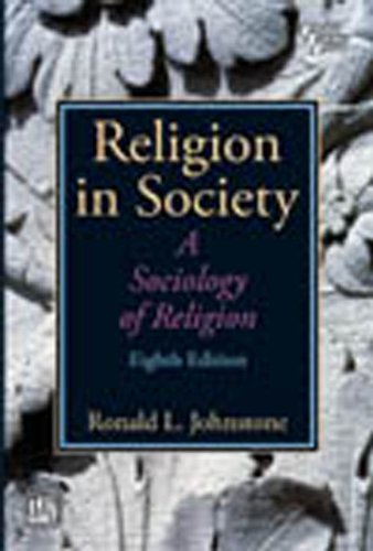 Religion In Society - A Sociology Of: Johnstone, Ronald L