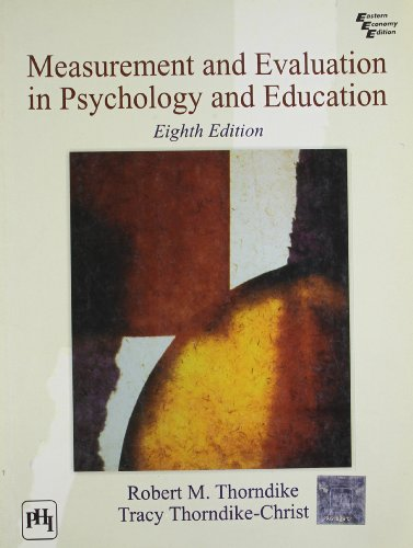 9788120343528: Measurement and Evaluation in Psychology and Education