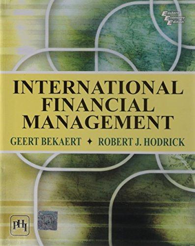 International Financial Management: Bekaert, Geert J.