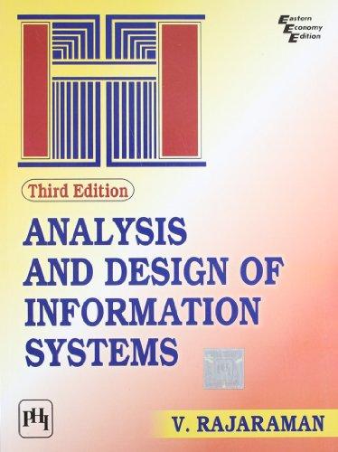 Analysis & Design Of Info. Sys, 3/Ed: Rajaraman