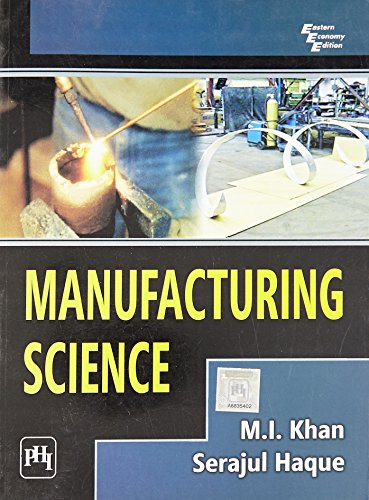 9788120344266: Manufacturing Science