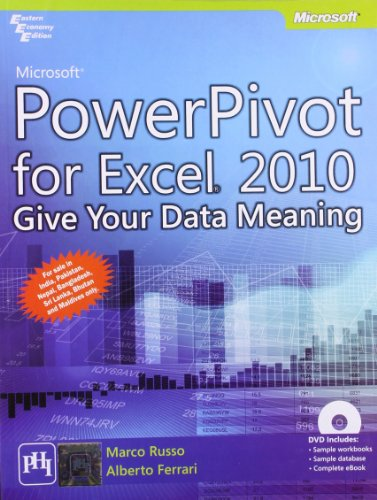 9788120344532: Microsoft PowerPivot for Excel 2010 Give Your Data Meaning With DVD