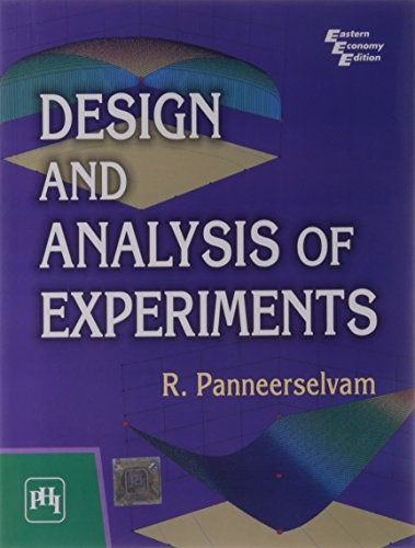 9788120344990: Design and Analysis of Experiments