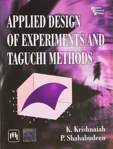 9788120345270: Applied Design of Experiments and Taguchi Methods