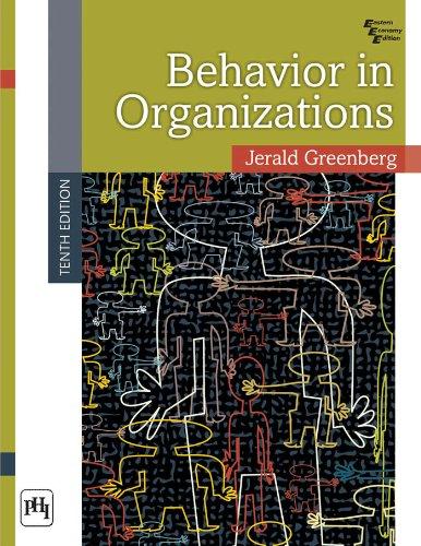 9788120346024: Behavior in Organizations