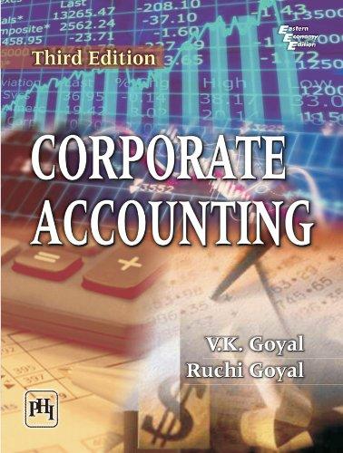 Corporate Accounting, Third Edition: Ruchi Goyal,V.K. Goyal