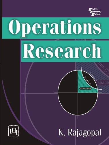 OPERATIONS RESEARCH: RAJAGOPAL