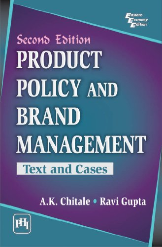 9788120346369: Product Policy and Brand Management: Text and Cases