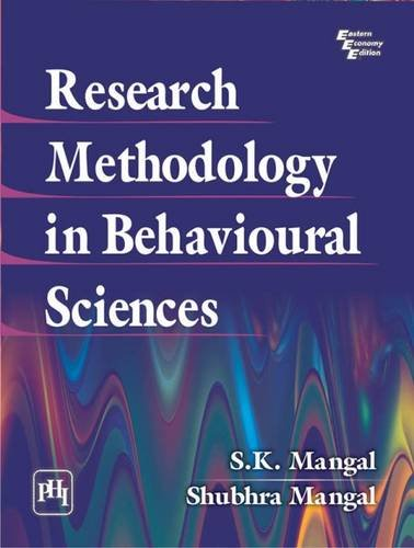 Research Methodology In Behavioural Sciences: Mangal