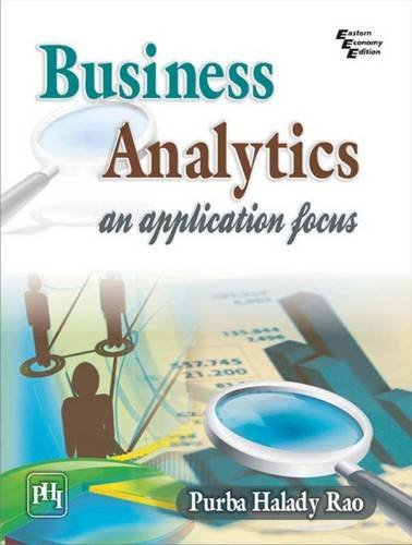 Business Analytics: An Application Focus: Purba Halady Rao