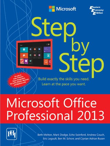 9788120349124: MICROSOFT OFFICE PROFESSIONAL 2013 STEP BY STEP