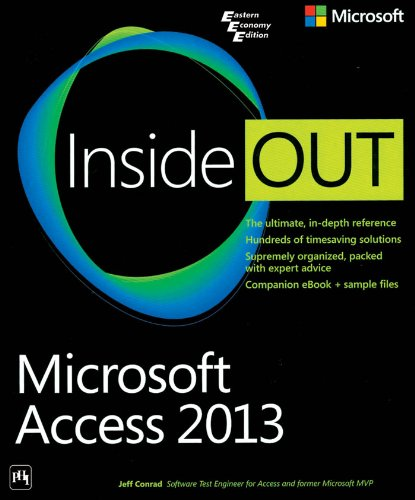 9788120349186: Inside Out Microsoft Access 2013
