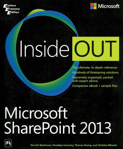 9788120349193: MICROSOFT SHAREPOINT 2013 INSIDE OUT