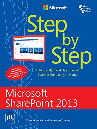 9788120349285: MICROSOFT SHAREPOINT 2013 STEP BY STEP