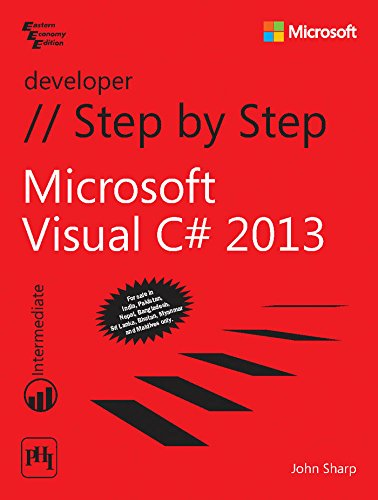 9788120349551: Microsoft Visual C# 2013 Step by Step by JOHN SHARP (2014-07-31)