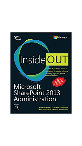 9788120350205: MICROSOFT SHAREPOINT 2013 ADMINISTRATION INSIDE OUT
