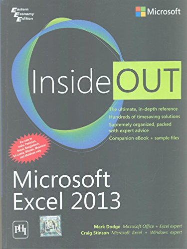 9788120350816: MICROSOFT EXCEL 2013 INSIDE OUT