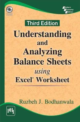 9788120351073: Understanding and Analyzing Balance Sheets Using Excel Worksheet