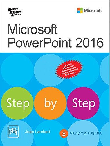 9788120352032: Microsoft Power Point 2016 Step by Step