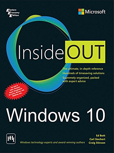 Windows 10 Inside Out: Carl Siechert, Craig Stinson Ed Bott