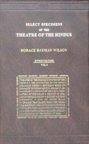 Select Specimens of the Theatre of the Hindus (Hardback): H. H. Wilson
