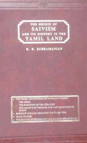 9788120601444: Origin of Saivism and Its History in the Tamil Land