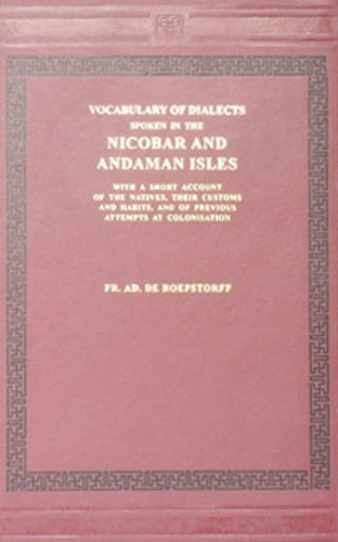 9788120602748: Vocabulary of Dialects Spoken in the Nicobar and Andaman Isles