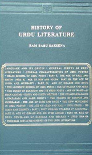 History of Urdu Literature: Ram, Babu Saksena