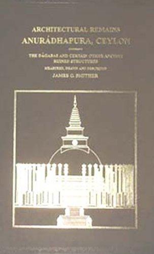 9788120608832: Architectural Remains: Anuradhapura Ceylon